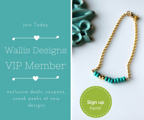 Wallis Designs VIP club Newsletter Sign Up