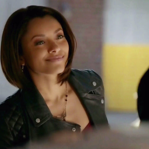 Wallis Designs Swoop Necklace as seen on The Vampire Diaries worn by Bonnie