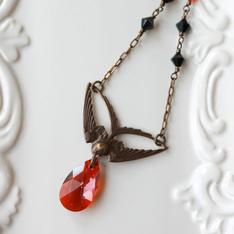Swoop Necklace as seen on The Vampire Diaries by Wallis Designs