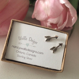 Silver Arrow Stud Earrings