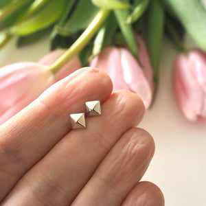 Pyramid Stud Earrings - Small