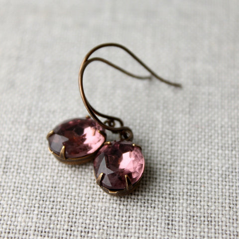 Purple Vintage Drop Earrings