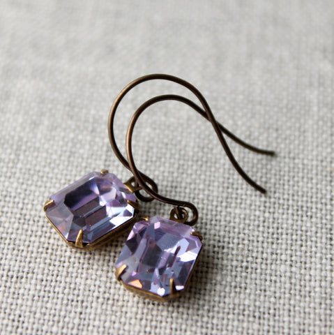 Alexandrite Rhinestone Earrings
