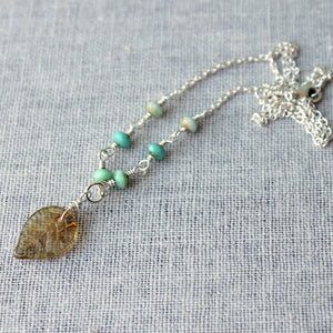 Water Leaf Nature Lover Necklace