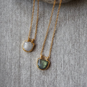 14k gold filled chain with Moonstone or Labradorite