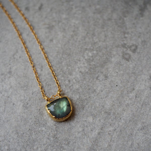 Gold filled necklace with Labradorite pendant by Wallis Designs