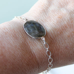 Labradorite Gemstone Bracelet by Wallis Designs