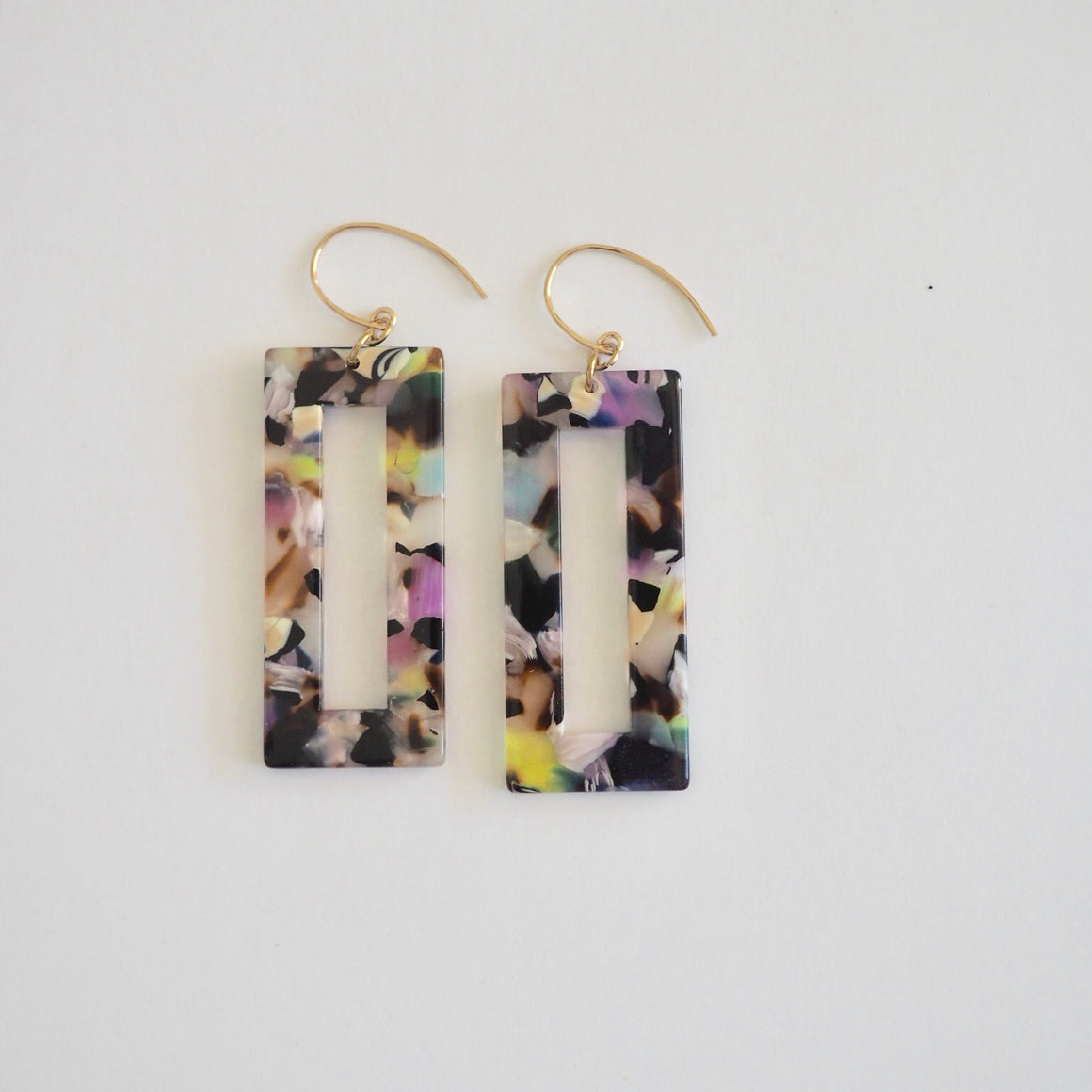 Geometric  Rectangle Earrings by Nancy Wallis Designs