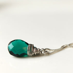 Emerald Green Gemstone Necklace