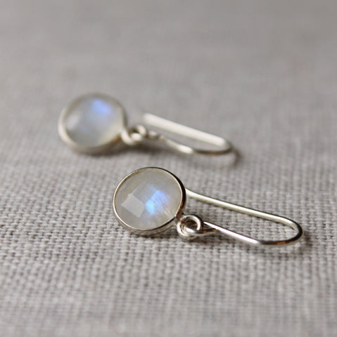 Moonstone Gem Earrings for the Modern Woman