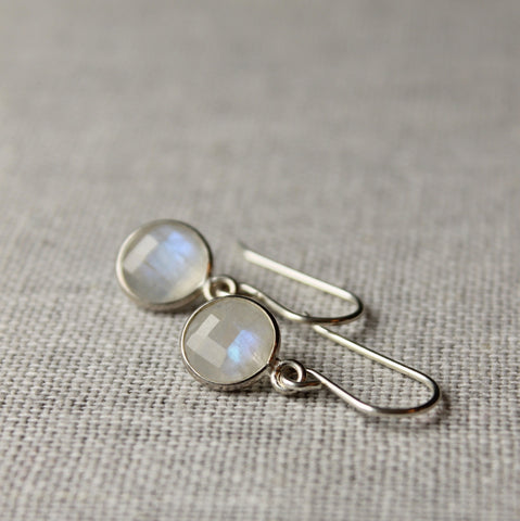 Dainty Gemstone Earrings with Moonstone