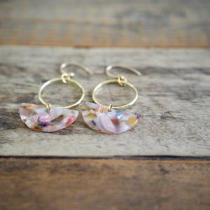 Half Moon Resin Earrings by Nancy Wallis Designs