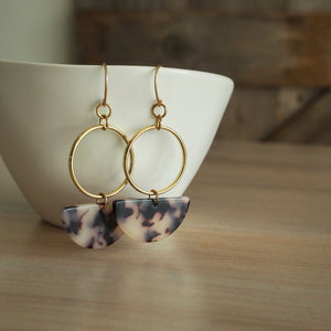 Half Moon Drop Geometric Earrings made in Canada