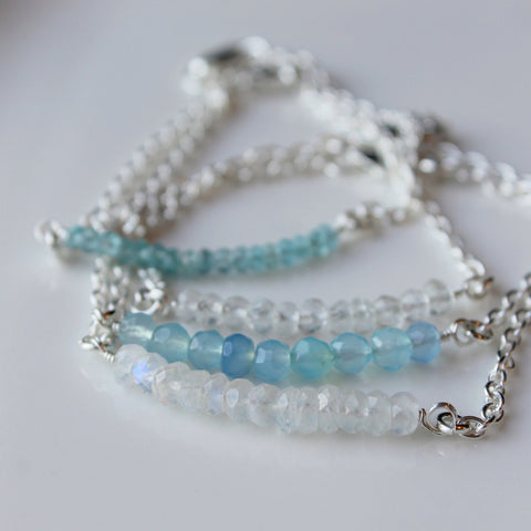 Gemstone Bracelet in Sterling Silver