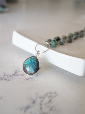 Labradorite and Turquoise Gemstone Necklace by Wallis Designs