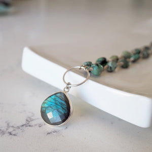 Labradorite Gemstone Necklace made in Canada by Wallis Designs