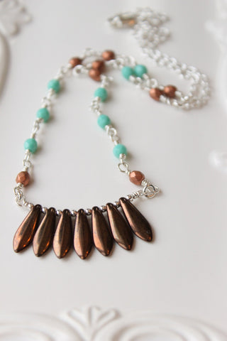 Bohemian Fringe Necklace by Nancy Wallis Designs