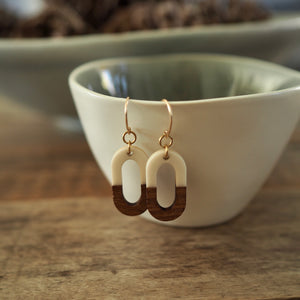 Oval Earrings for Fall by Nancy Wallis Designs