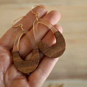 Large Teardrop Earrings for Fall by Nancy Wallis Designs