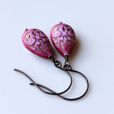 Pink Bohemian Earrings