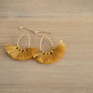 Fun tassel earrings in Gold by Nancy Wallis Designs in Canada