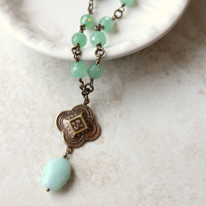 Green Stone Bohemian Necklace