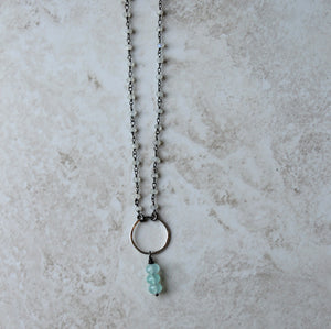 Handmade by Nancy Wallis gemstone necklace