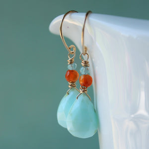 Peruvian Opal Gemstone Earrings by Wallis Designs