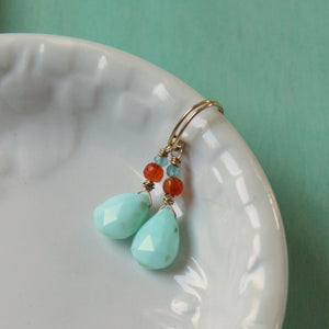 Gemstone Earrings as seen on Jane the Virgin by Wallis Designs