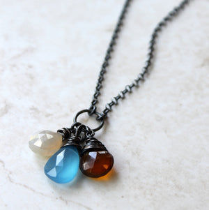 Handmade Long Gemstone Necklace by Wallis Designs