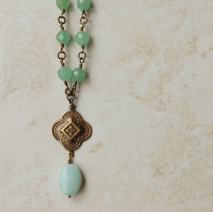 Aventurine and amazonite stone necklace by Wallis Designs