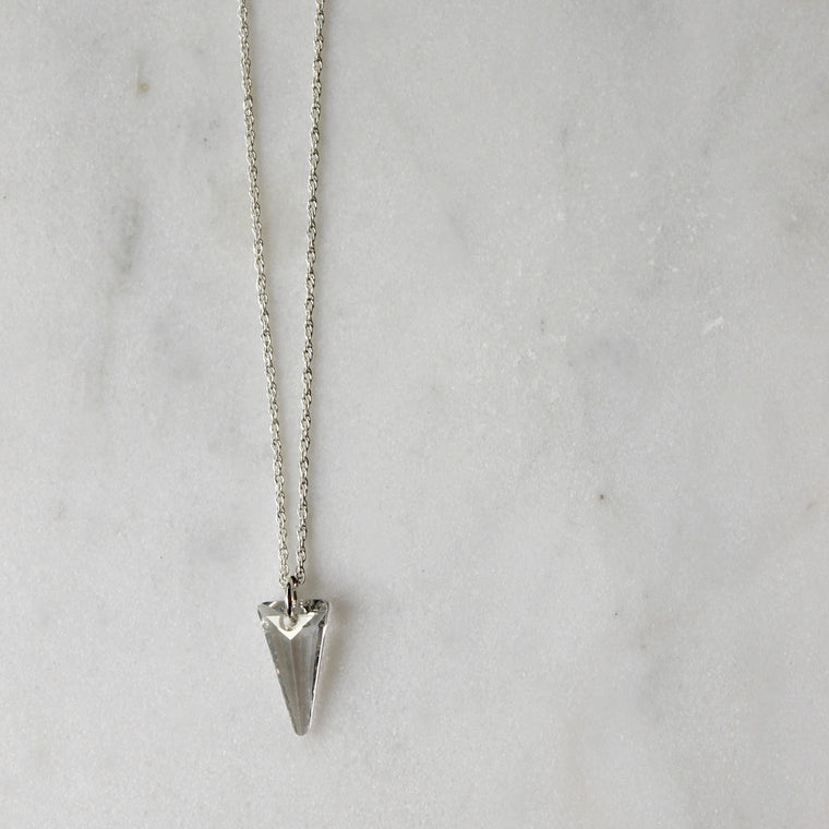 Crystal Shadow Spike Necklace