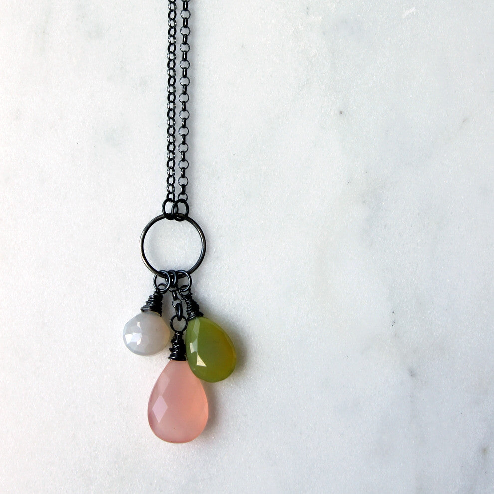 Garden Blush Gemstone Necklace