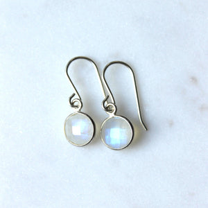 Moonstone Silver Drop Earrings
