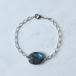 Forest Pool Labradorite Gemstone Bracelet