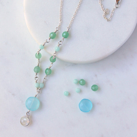 Morning Lake Gemstone Necklace
