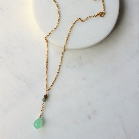 Green Gemstone Necklace for Autumn