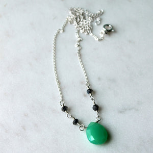 Chrysoprase and Labradorite Necklace