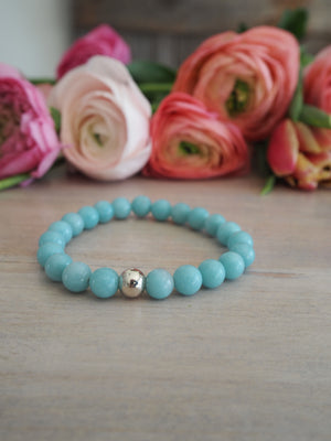 Amazonite Gemstone Bracelet by Nancy Wallis Designs
