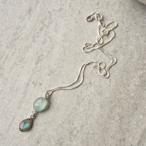 Sterling Silver Gemstone Necklace by Nancy Wallis Designs
