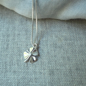Four Leaf Clover Silver Necklace