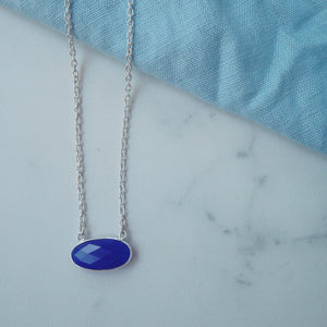 Deep Blue Chalcedony Necklace