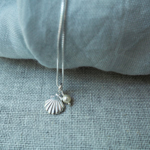 Delicate Shell Silver Necklace