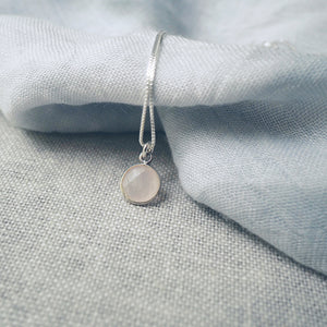 Rose Quartz Silver Necklace