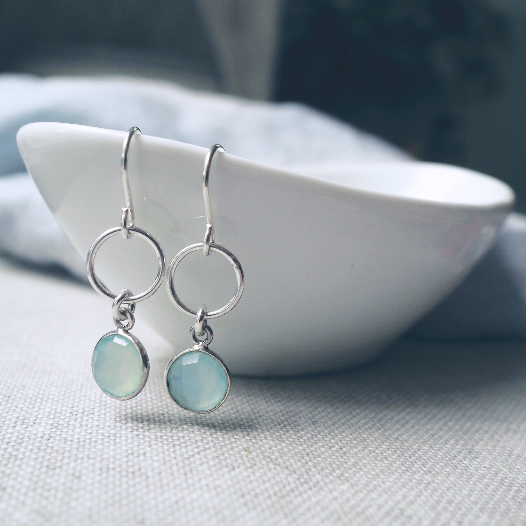 Refresh Aqua Chalcedony Earrings