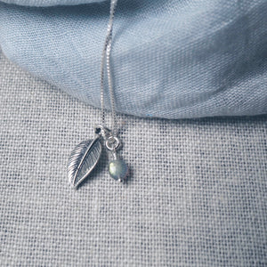 Renewal Silver Leaf Necklace