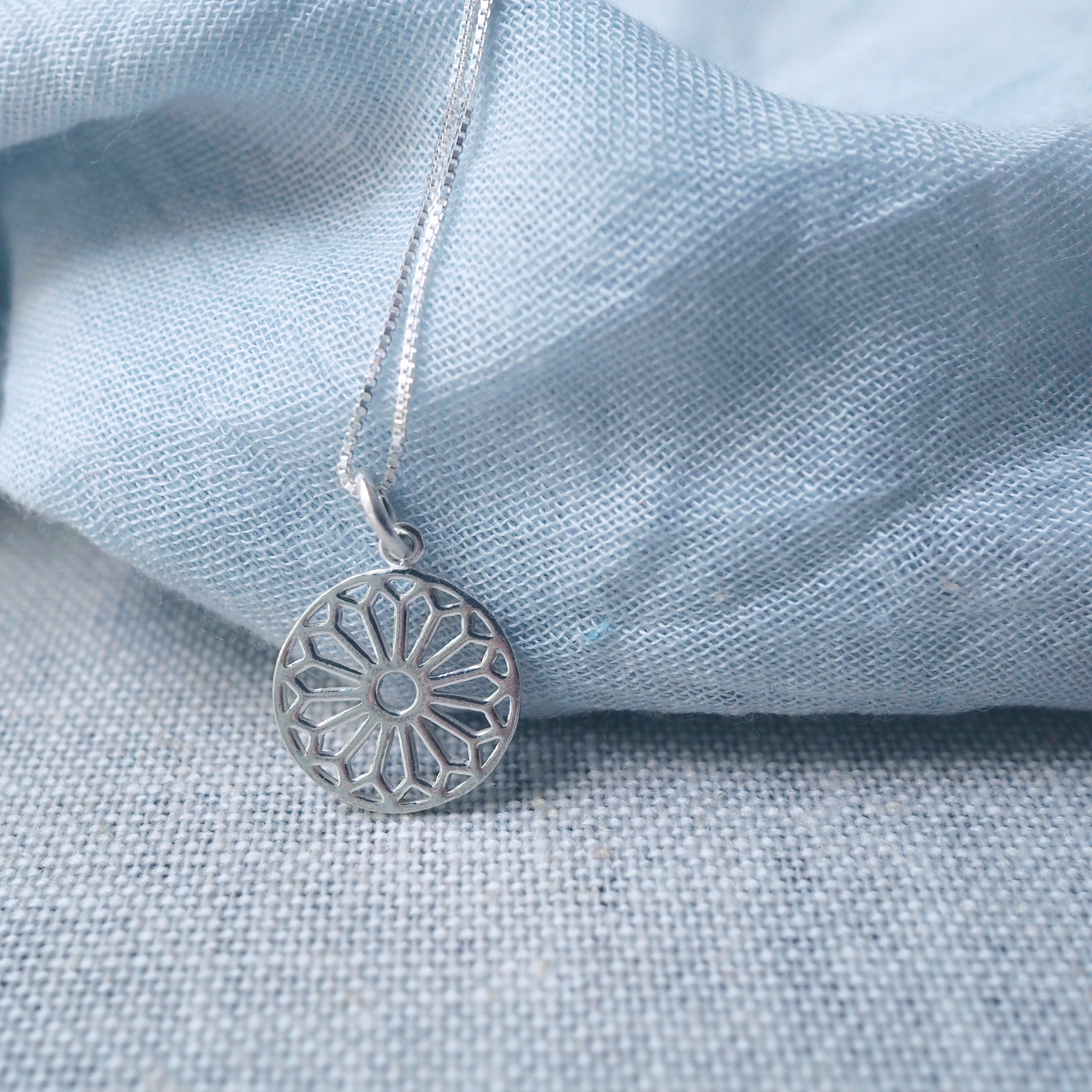Kaleidoscope Charm Silver Necklace