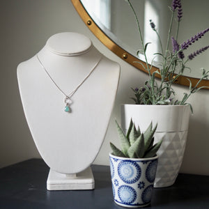Refresh Aqua Chalcedony Teardrop Necklace