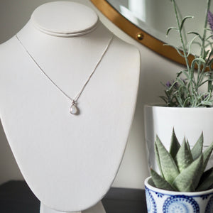 Moonstone Teardrop Silver Necklace