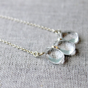 Crystal Gemstone Trio Necklace